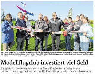 Beckum hebt ab: Jugendförderung im attraktiven Modellflugzentrum Beckumer Feld